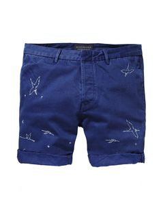 Embroidered Worker Shorts|Denim Shorts|Men Clothing at Scotch & Soda