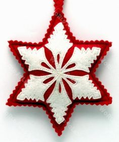 Felted 6 Point Star Ornament - World Folk Art - Find Stained Gourds, Metal Wall Hangings, and more