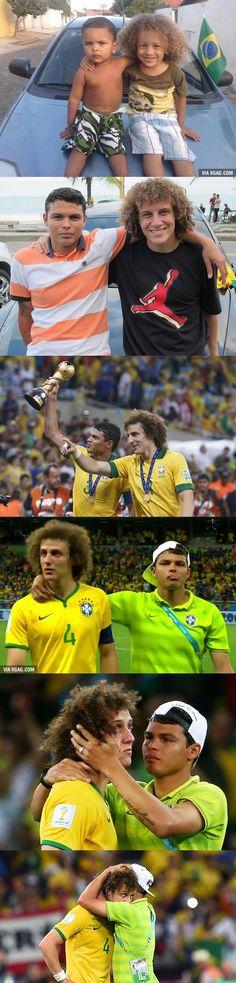 Thiago Silva And David Luiz, a REAL BROMANCE #Brazil #WoldCup