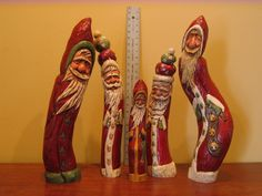 KATHY RAVENBERG Aspen hand carved santas.  Now in private collections,