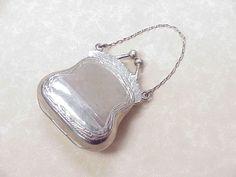 Edwardian Sterling Silver Miniature Purse / Pendant..