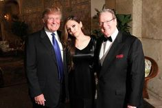 Donald Trump, Lola Astanova and Patrick Park