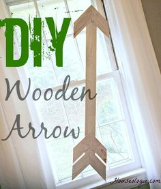 Check out how easy it is to make your own wood arrow! So cute and easy!