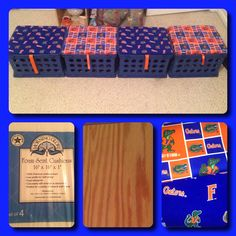 Seating and storage for my classroom library. Materials needed: Crates @ wal-mart) Plywood Seat cushions pack - @ wal-mart) Fabric (Go Gators!) Staples and staple gun Ribbon Crate Seats, Staple Gun, 2nd Grade Classroom, Second Grade, Plywood, Seat Cushions, Crates, Ribbon, Storage