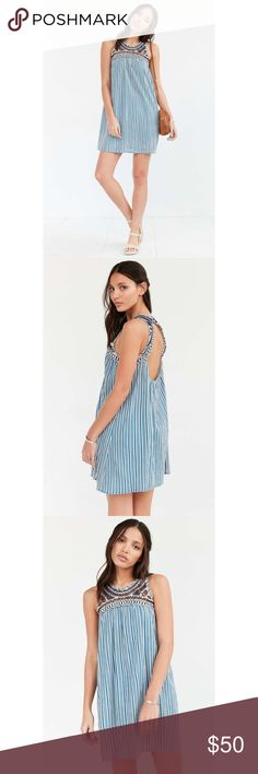 Ecote Blue Dreams Crochet Swing Dress Adorable swing dress from Urban Outfitters, in good used condition. Perfect for days at a beach or summer nights! Make an offer!! Urban Outfitters Dresses Mini