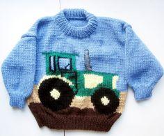 Boys Brand New Hand Knit Handmade John Deere by tribercrafts, $28.00