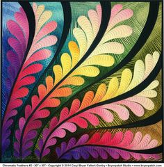 """Caryl Bryer Fallert-Gentry """"Chromatic Feathers #2"""