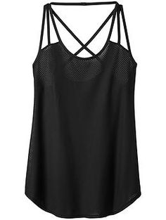 Powerhouse Mesh Tank - The allover mesh run singlet to keep you super-cool on hot days or in hot gyms with a strappy back design.