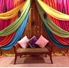 Sangeet Inspiration! For Indian Wedding Decorations in the Bay Area, California; Contact R&R Event Rentals, Located in Union City & serving the Bay Area and Beyond.