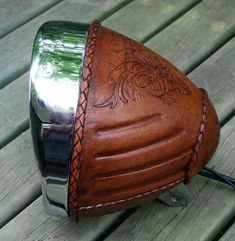 Just an idea, maybe this could work on Indian motorcycle. Chrome studs or trim work on leather!