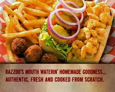 Razzoo's in Round Rock... during crawfish season, they have the BEST spicy crawfish boils!
