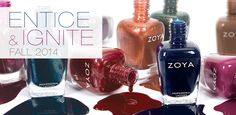 Entice & Ignite - Fall 2014 Zoya Nail Polish Collection