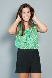 Beach Cottage Blouse-Green