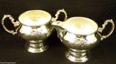 Search by seller - FineThings4sale - our family estate items.  GORHAM SILVER CHANTILLY CREAMER PITCHER SUGAR BOWL SET ~ VIEW OUR OTHER LISTINGS