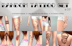 Sims 4 CC's - The Best: Tattoos by Overkill Simmer