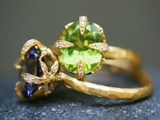 Cathy Waterman rings...so dainty and lovely...and the colors!!!!  Oh my.