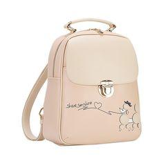 Students Backpack female School bag Kawaii PU leather Backpack For girls   Affiliate Canvas Backpack, 42f00aab5c