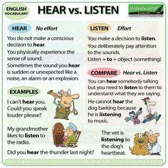 hear versus listen
