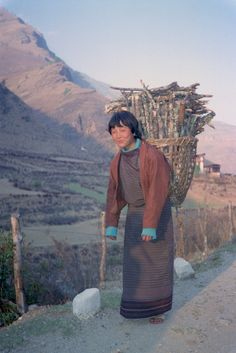 All sizes | woman with basket on back in Bhutan | Flickr - Photo Sharing!