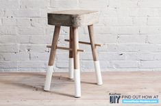Cake Pan Stool or Bucket Stool | 7 DIY Concrete Projects You Can Make With One $5 Bag Of Concrete Mix