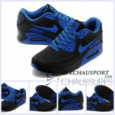 low cost 6a071 c0fa0 Nike Air Max 90 2016   Meilleur Chaussures Running Homme Noir Bleu-3