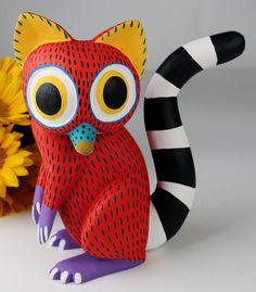 oaxaca folk art wooden animal