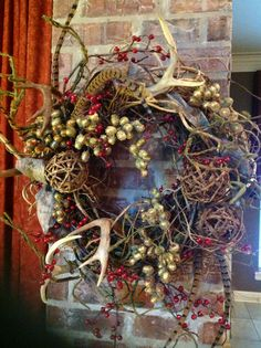Beautiful wreath with antlers