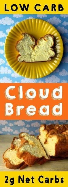 If you miss the taste of bread but not the carbs then cloud bread is the recipe to reach for. This recipe is Low Carb Keto Paleo Atkins THM Sugar Free and Gluten Free. Diabetic Recipes, Low Carb Recipes, Cooking Recipes, Healthy Recipes, Atkins Recipes, Bariatric Recipes, Protein Recipes, Healthy Baking, Bread Recipes