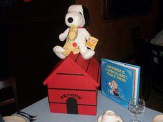 Snoopy Centerpiece, Storybook Theme Shower