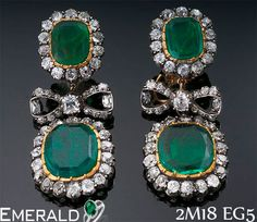 Look Charming with trending emerald earrings.