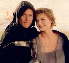 """Rutger Hauer and Michelle Pfeiffer in """"Ladyhawke"""" Michelle Pfeiffer, Dutch Actors, Rutger Hauer, Beautiful Love Stories, Sword And Sorcery, Fantasy Movies, Old Movies, Role Models, Actors & Actresses"""