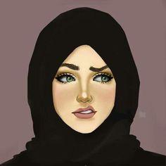 Girly Drawings, Cartoon Drawings, Sarra Art, Hijab Drawing, Islamic Cartoon, Girly M, Anime Muslim, Hijab Cartoon, Islamic Girl