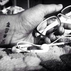 music lover wrist tattoo