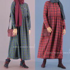 Pinterest: @adarkurdish Muslim Fashion, Modest Fashion, Hijab Fashion, Boho Fashion, Fashion Dresses, Simple Dresses, Casual Dresses For Women, Linen Dress Pattern, Hijab Abaya