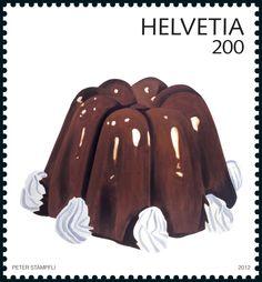 Special stamp Pop Art: Pudding  www.postshop.ch/philatelie