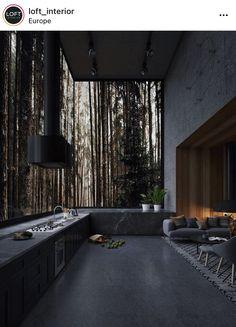 Loft Design, Home Room Design, Dream Home Design, Modern House Design, My Dream Home, Home Interior Design, Exterior Design, Kitchen Design, Design Interiors