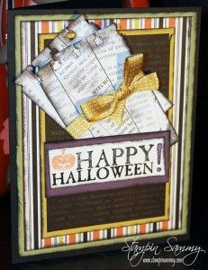 Happy Halloween - Witches' Brew DSP and Seasonal Sayings Stamp Set - by Stampin Sammy