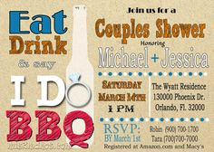 I Do BBQ Couples Shower Barbeque Bridal Shower. by M2MPartyDesigns