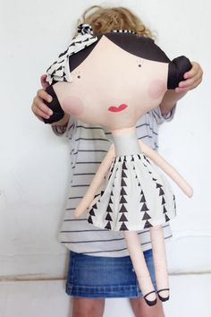 Enter a chance to win this adorable doll fabric! I hope I win I know some little girls who would these!