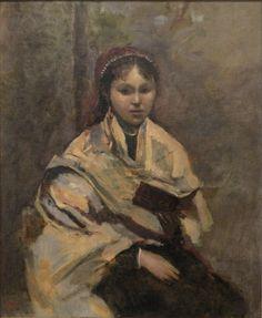 Corot Jeune fille assise un livre à la main