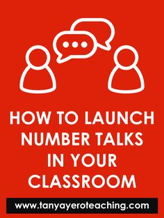 Get information and tips for launching Number Talks in your classroom. Number Talks is a quick discussion designed to build number sense and mental math. Mental Math Strategies, Classroom Schedule, Favorite Questions, Math Blocks, Number Talks, Math Place Value, 1st Grade Math, Math Facts, Number Sense