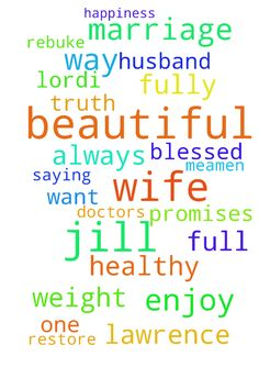 Thank you for your word,your promises, your truth -  Dear Lord Father God Thank you for your word,your promises, your truth, but most of thank you for being you, our only God Thank you for the wonderful breakthrough with my Beautiful wife Jill,I am so sorry, that I was not the husband you had wanted me to be, I pray Father God I will always be the husband to Jill you want me to be Lord,I pray my beautiful wife Jill will always be the wife how you want her to be to me,Amen Lord I pray that my…
