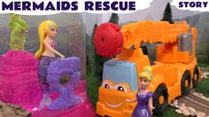 Mermaid Rescue Play Doh Diggin Rigs Princess Ariel Thomas and Friends Ci... Cinderella finds a Mermaid trapped in a tank of water and sets out to rescue her using the Play Doh Diggin Rigs vehicles. #mermaid #princessariel #disney #playdoh #cinderella #thomas #story #toy #robo #magical #kids #magiclip