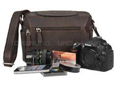 Kalahari KAAMA L-13 - Leder Kameratasche Fototasche Videotasche - antikbraun 440513