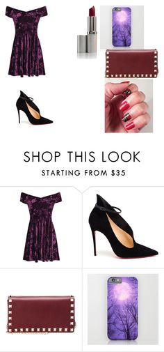 """Purple skater"" by jordanbond55 ❤ liked on Polyvore featuring beauty, Christian Louboutin and Valentino"