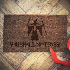"""Fußmatten - Lord of The Rings Gandalf """"Fussmatte  Fußmatte - ein Designerstück von MyBellyBoom bei DaWanda"""