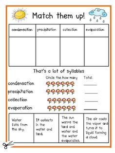 I really enjoyed the syllables incorporated into this worksheet! The matching pulls the definitions visually as well. (Can you tell I'm a visual learner?!)