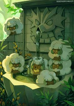 The Whimsicott sitting on top of the other one wears the exact same gorming face that I do for like half my life!