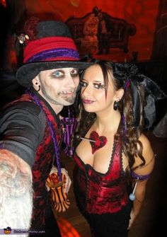 Witch Doctor and Voodoo Doll - 2013 Halloween Costume Contest via @costumeworks