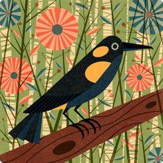 #bird #flowers #art. . . repinned via Louise Brainwood